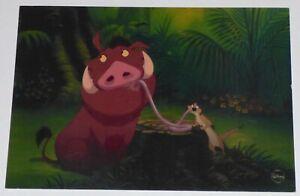 WALT DISNEY THE LION KING TIMON PUMBAA SAVOR THE MOMENT LE CEL PROMO CARD