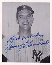 Johnny Blanchard New York Yankees Autographed Photo W/COA B