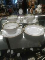 Noritake Japan Pattern 6872 Warrington Fine China 3 Cups  And 4 Saucers.