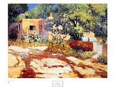 Kent R. Wallis Hollyhock Pathway Poster Kunstdruck Bild 60x79cm - Portofrei