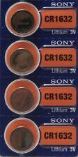 4 Sony 1632 Battery CR1632 CR 1632 Lithium 3v Batteries Coin NEW 3v