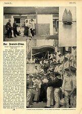 Aus Deutsch-China: Deutsche Kneipe in Kiautschau Historical Memorabilia c.1900