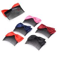 Fashion Women Ribbon Hair Comb Bowknot Hairpin Hair Clip Hair Jewelry Headband~
