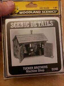 Woodland Scenics D240 HO Scale Tucker Bros. Machine Shop Building Kit NEW