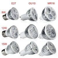 E27 GU10 MR16 Bright LED Bulb Lamp Light Spotlight Warm/Cool White 9W/12W/15W