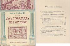 C1 CABANES Medecine DANS LES COULISSES DE L HISTOIRE 2e Serie Illustre