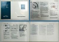 Mercedes Benz 200 230.4 /8 W115 Betriebsanleitung Bedienung 1975
