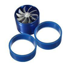 NEW Supercharge Turbo Single Jet Blade Tornado F1-Z Blue Eco Gas/Fuel Saver Fan