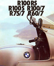 1977 BMW R100-R75-R60 MOTORCYCLE BROCHURE -R100RS-R100S-R100/7-R75/7-R60/7-BMW