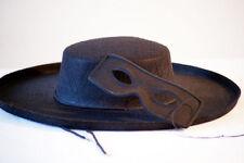 New Zorro/Bandit Themed Costume, Black Hat & Eye Mask Fancy Dress Accessory