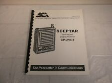 SCEPTAR CP-AVO1 SYNTHESIZED PAGING RECEIVER OWNER OPERATOR INSTRUCTION MANUAL