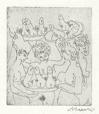 MACCARI Mino, Senza titolo (La puttana errante). Acquaforte 1987. Cm 14x13