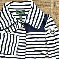 Ralph Lauren Active Green White Blue Stripe Nautical Small Jacket Cruise Sailing