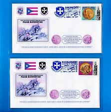 2pc FDC BORINQUENEERS Tribute Set 2016 MEDAL OF HONOR Puerto Rico 65 INFANTERIA