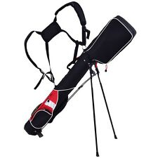 "5"" Lightweight Sunday Golf Bag Stand 7 Clubs Carry Pockets Travel Storage US"