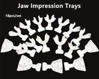 1Box/18Pcs Dental Impression Trays Frame Cut Back Edentulous Jaw Full Denture