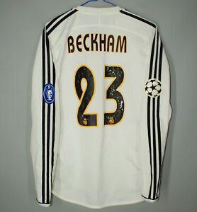 REAL MADRID 2003 2004 HOME FOOTBALL SHIRT JERSEY CAMISETA LONG #23 BECKHAM