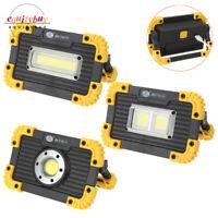 COB LED Work Light USB Rechargeable Spotlight Floodlight Lamp Stand 18650 5W