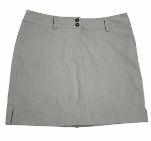 Callaway Women's Size 10 Golf Skort Shorts Skirt Gray Pockets Stretch NWOT