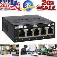 NETGEAR 5-Port Gigabit Ethernet Unmanaged Switch (GS305) - Desktop, Sturdy Metal