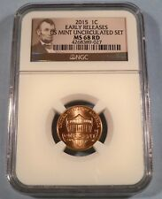 2015 NGC MS68RD LINCOLN CENT 1c MS 68 RD RED