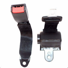 Universal Black Retractable Vehicle 2 Point Car Safety Seat Lap Belts Adjustable
