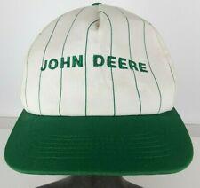 Vtg John Deere Hat Cap Snapback K-Products USA Made Stripes Green White