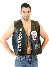 Adult WWE Stone Cold Steve Austin 3:16 Smoking Skull Black Costume Leather Vest