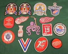 Detroit Red Wings Patch Lot 1997 1998 2002 2008 Stanley Cup HOCKEYTOWN Yzerman