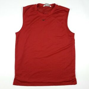 Nike Red Mesh Sleeveless Muscle Active Work Out T Shirt Adult Size Medium