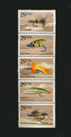Fishing Flies #2545 - 2549 Mint NH Se-tenant Set of Five Stamps RetailVal $19.50