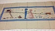 "2 Vintage Bed Runners Textile Fabric Bed Decor Dicey Mills Shelby, Nc. 58""x25"""