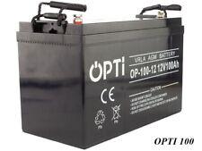 GEL AGM Batteria VRLA 12v OPTI 120ah (c100) manutenzione anziché 100ah 110ah