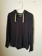 COMPANY 81 Mens Hooded Striped Long Sleeve Shirt XL X-Large