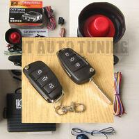 Car Alarm Security System + Remote Central Locking Kit for VW Golf mk4 mk5 Polo