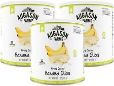 NEW! Augason Farms Emergency Food Honey-Coated Banana Chips 3 Pk.