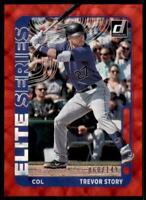 2021 Donruss Baseball Elite Series Red #9 Trevor Story - Colorado Rockies /149