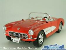 CORVETTE C1 MODEL CAR 1957 RED 1:18 SIZE CRESTLEY OPENING PARTS LARGE CLASSIC T3