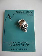 Sterling Silver Medium 3D Skull Pendant New