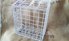 Letterbox basket white welded mesh