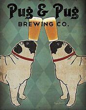 DOG ART PRINT Pug and Pug Brewing Co. Ryan Fowler