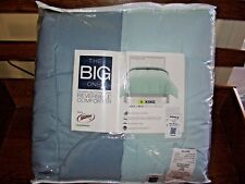 King Reversible Down Alternative Comforter by The Big One,King, Nwt Lt. Blue/Med