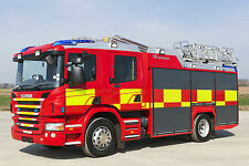 FIRE ENGINE POSTER - A3 SIZE 297X420MM - BUY2GET1FREE - (3) FREE UK P&P