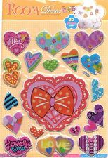 Valentine gift Stickers 3 D wall Creative Decoration  Colorful Heart