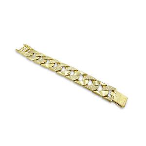 Pre-Owned Heavy Curb Mens Bracelet 9ct 240g Diamond