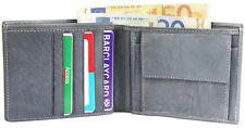 Excellanc Herren Geldbörse aus Echtleder Brieftasche Geldtasche Echt Leder GRAU