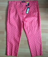 M&S Collection The Mia Slim Fit Ankle Grazers UK 16 SHORT Eu 44 Pink Polka Dot