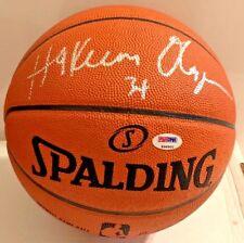 Hakeem Olajuwon Signed Official Basketball PSA/DNA HOF K98900