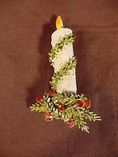 """Vintage Signed """"ART"""" Christmas Lighted Candle Pin/Brooch"""