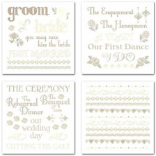 FOREVER YOURS Rub-Ons SWATCH PACK scrapbooking WEDDING